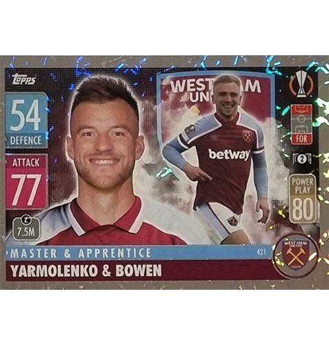 Topps Champions League 2021/2022 Nr 421 Yarmolenko und Bowen