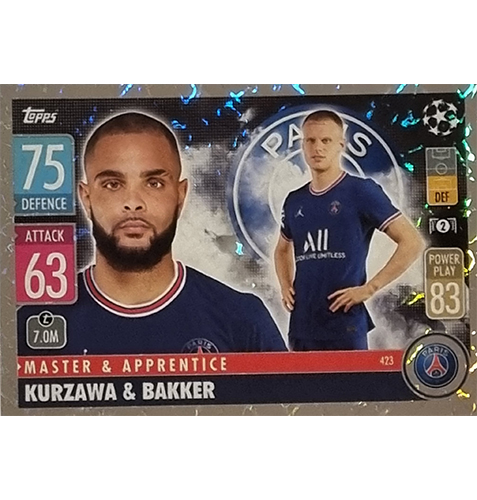 Topps Champions League 2021/2022 Nr 423 Kurzawa und Bakker