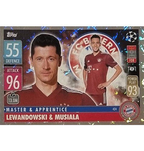 Topps Champions League 2021/2022 Nr 424 Lewandowski und Musiala