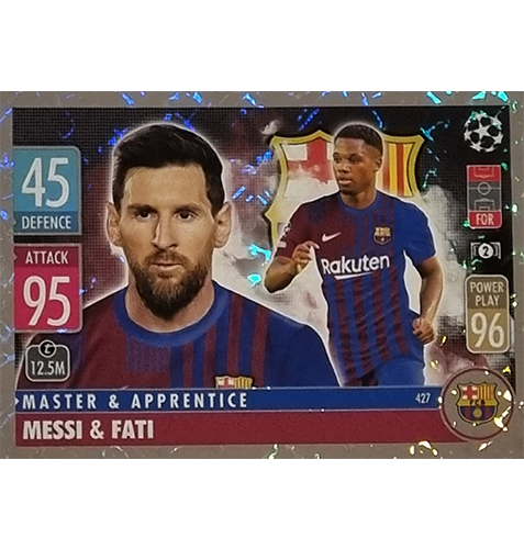 Topps Champions League 2021/2022 Nr 427 Messi und Fati