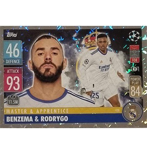 Topps Champions League 2021/2022 Nr 428 Benzema und Rodrygo