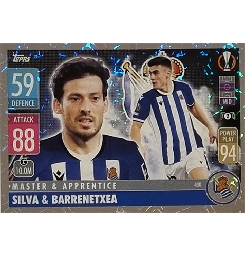 Topps Champions League 2021/2022 Nr 430 Silva und Barrenetxea
