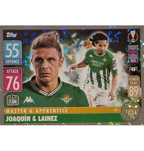 Topps Champions League 2021/2022 Nr 431 Joaquin und Lainez