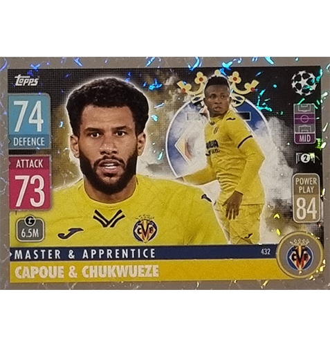 Topps Champions League 2021/2022 Nr 432 Capoue und Chukwueze