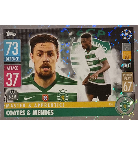 Topps Champions League 2021/2022 Nr 434 Coates und Mendes