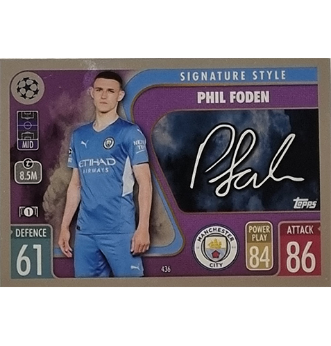 Topps Champions League 2021/2022 Nr 436 Phil Foden