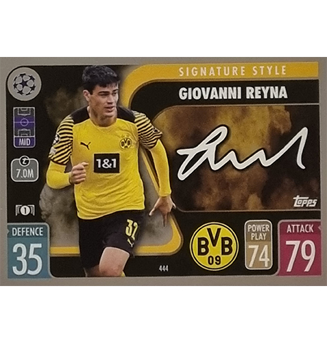 Topps Champions League 2021/2022 Nr 444 Giovanni Reyna