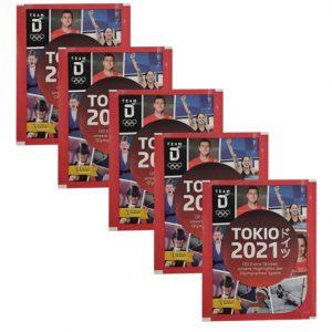 Panini Team Deutschland Teil 2 Tokio 2021 Sticker 5x Tüten