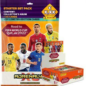 Panini Road to World Cup 2022 Qatar Adrenalyn XL Starter und 1x Display