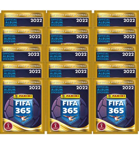 Panini FIFA 365 2022 Sticker 15x Stickertüten