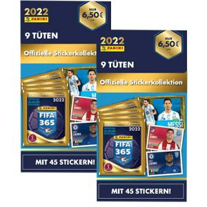 Panini FIFA 365 2022 Sticker 2x Blister
