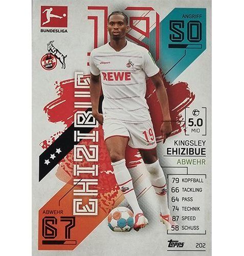 Topps Match Attax Bundesliga 2021/22 Nr 202 Kingsley Ehizibue