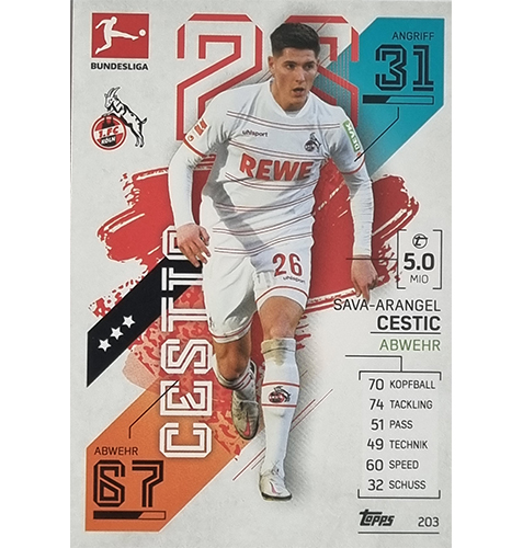 Topps Match Attax Bundesliga 2021/22 Nr 203 Sava Arangel Cestic