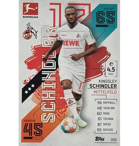 Topps Match Attax Bundesliga 2021/22 Nr 205 Kingsley Schindler