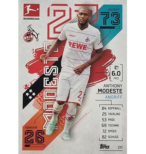 Topps Match Attax Bundesliga 2021/22 Nr 211 Anthony Modeste