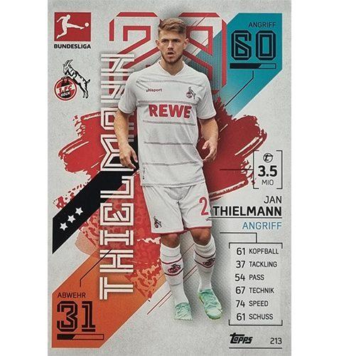 Topps Match Attax Bundesliga 2021/22 Nr 213 Jan Thielmann