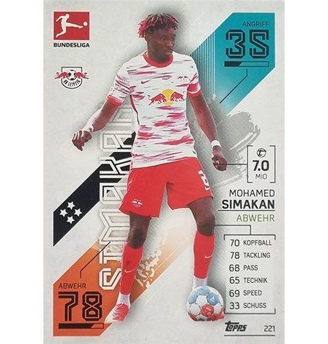 Topps Match Attax Bundesliga 2021/22 Nr 221 Mohamed Simakan
