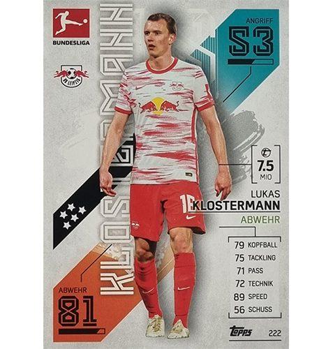 Topps Match Attax Bundesliga 2021/22 Nr 222 Lukas Klostermann