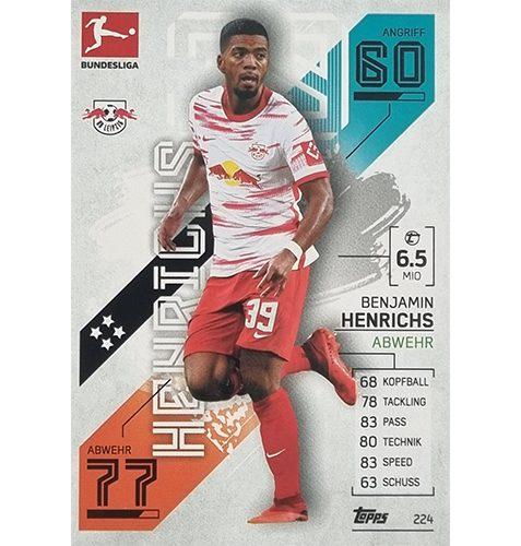 Topps Match Attax Bundesliga 2021/22 Nr 224 Benjamin Henrichs