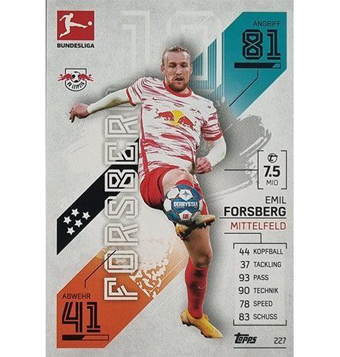 Topps Match Attax Bundesliga 2021/22 Nr 227 Emil Forsberg