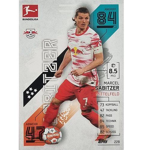 Topps Match Attax Bundesliga 2021/22 Nr 228 Marcel Sabitzer