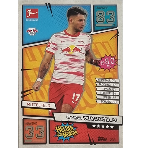 Topps Match Attax Bundesliga 2021/22 Nr 234 Dominik Szoboszlai