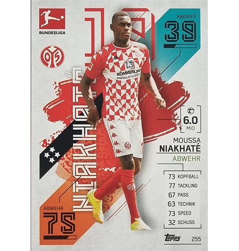 Topps Match Attax Bundesliga 2021/22 Nr 255 Moussa Niakhate