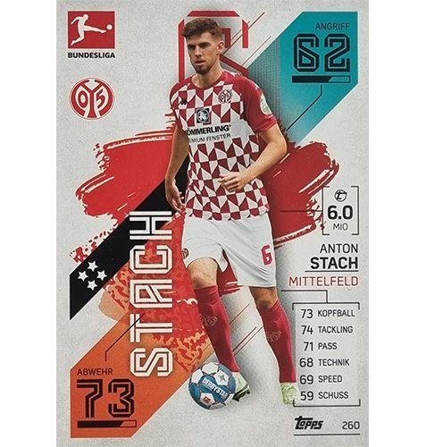 Topps Match Attax Bundesliga 2021/22 Nr 260 Anton Stach