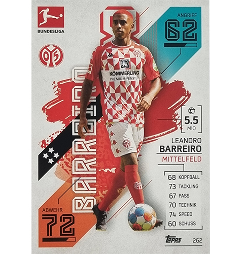 Topps Match Attax Bundesliga 2021/22 Nr 262 Leandro Barreiro