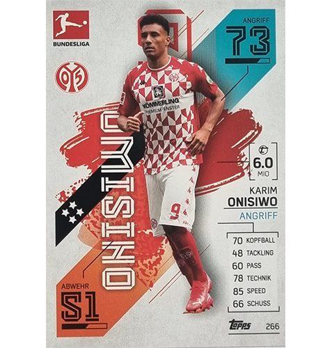 Topps Match Attax Bundesliga 2021/22 Nr 266 Karim Onsiwo