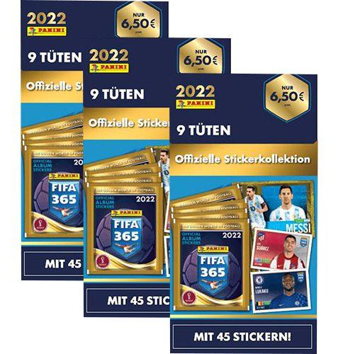 Panini FIFA 365 2022 Sticker 3x Blister