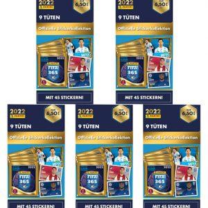 Panini FIFA 365 2022 Sticker 5x Blister