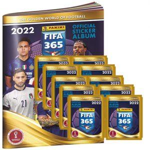 Panini FIFA 365 2022 Sticker Sammelalbum + 10x Stickertüten