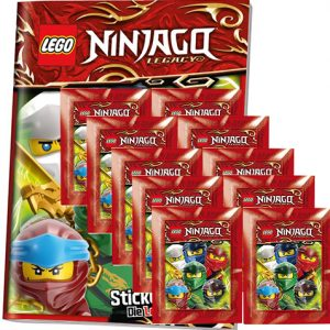 LEGO Ninjago Legacy Serie 2 Sticker Album + 10x Tüten