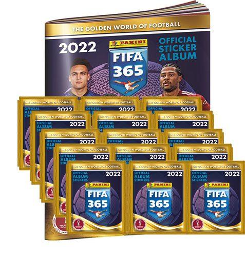 Panini FIFA 365 2022 Sticker Sammelalbum + 15x Stickertüten