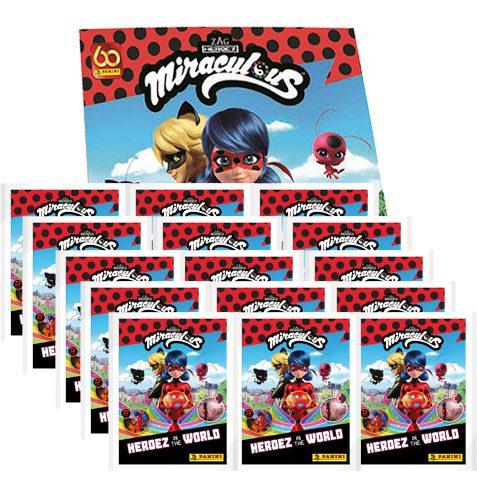 Panini Miraculous Ladybug Heroez in the World Sticker Album + 15x Tüten