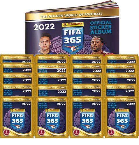 Panini FIFA 365 2022 Sticker Sammelalbum + 20x Stickertüten