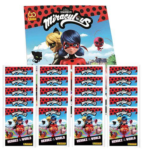 Panini Miraculous Ladybug Heroez in the World Sticker Album + 20x Tüten