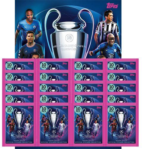 Topps Champions League Sticker 2021/2022 Album + 20x Tüten