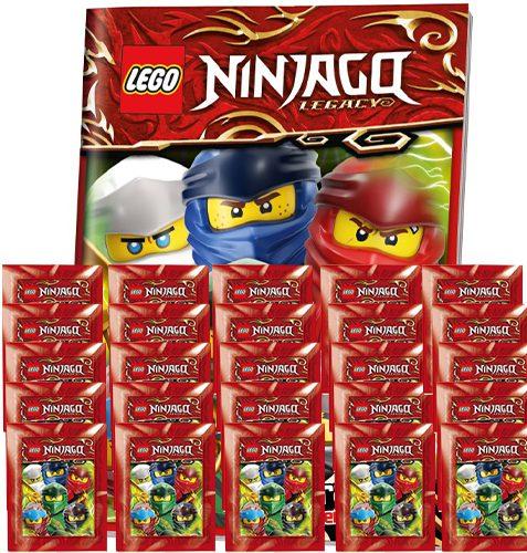 LEGO Ninjago Legacy Serie 2 Sticker Album + 25x Tüten