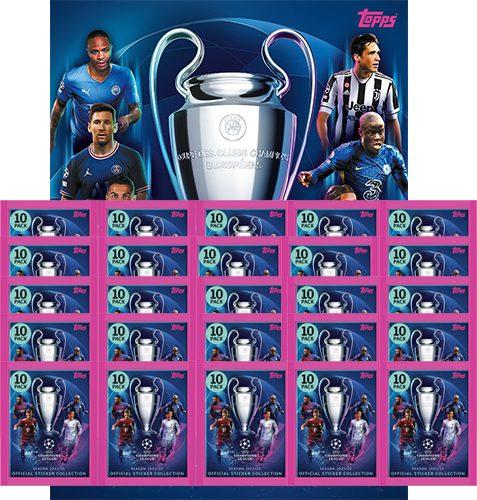 Topps Champions League Sticker 2021/2022 Album + 25x Tüten