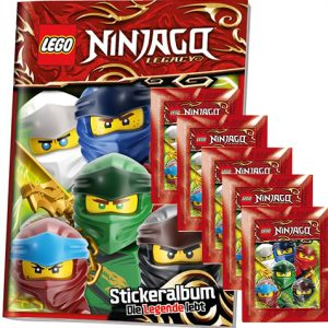 LEGO Ninjago Legacy Serie 2 Sticker Album + 5x Tüten