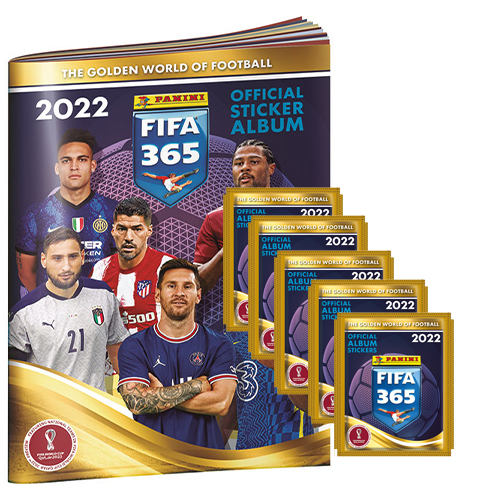 Panini FIFA 365 2022 Sticker Sammelalbum + 5x Stickertüten