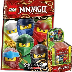 LEGO Ninjago Legacy Serie 2 Sticker Album + 1x Display