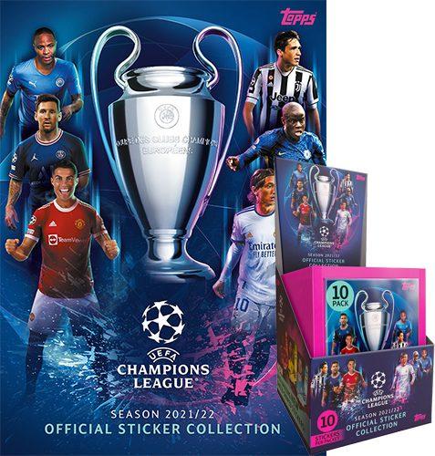 Topps Champions League Sticker 2021/2022 Album + Display