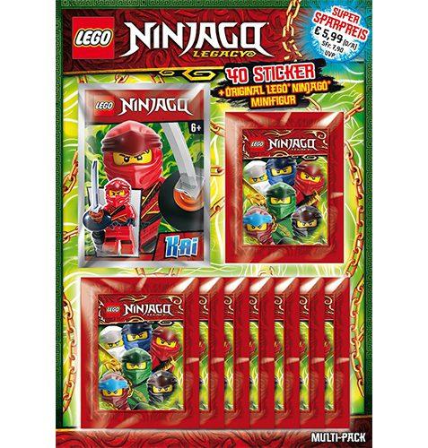 LEGO Ninjago Legacy Serie 2 Sticker Multipack + Minifigur